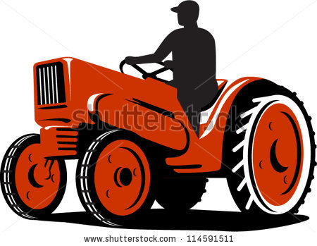 Tractor indian pencil and. Agriculture clipart farm machinery