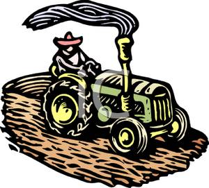 Agriculture clipart farm machinery. Tractor equipment pencil and