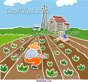 Crops clipart. Agriculture farming station