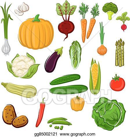 Vector art farm vegetables. Agriculture clipart food