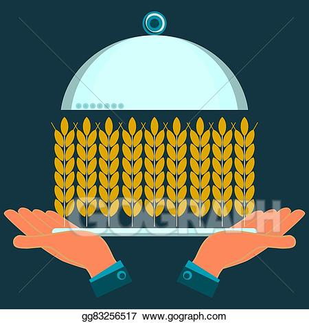 Agriculture clipart food security. Vector art hands holding