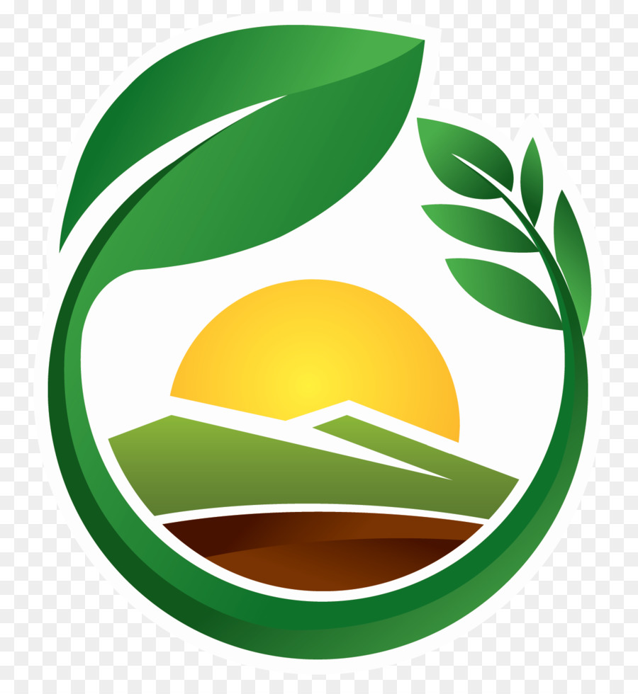 Agriculture clipart food security. Green leaf logo sustainability
