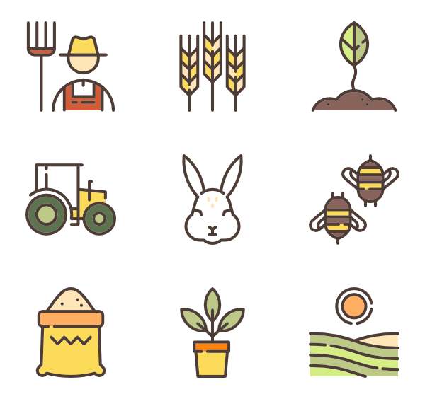 Icons free vector linear. Agriculture clipart icon