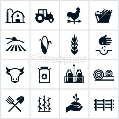 Agriculture clipart icon.  best farm logo