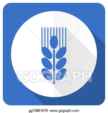 Agriculture clipart icon. Stock illustration grain blue