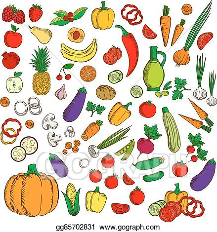 Vector art fresh healthy. Agriculture clipart icon