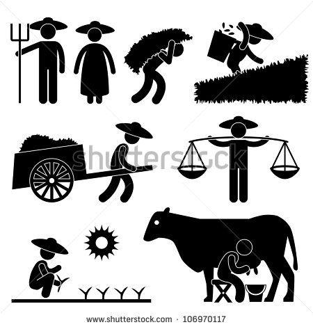 Farm clipart symbol. Farmer worker farming countryside