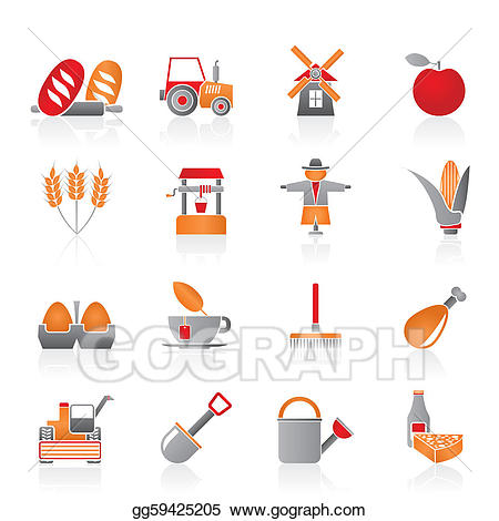 Agriculture clipart icon. Vector art and farming