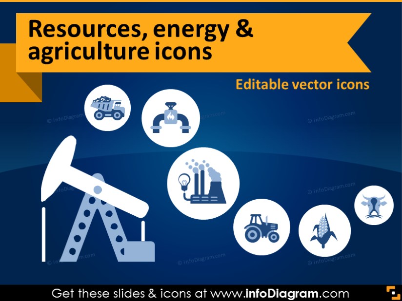Resources energy industry icons. Agriculture clipart icon