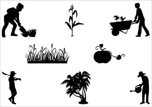 Agriculture clipart silhouette. Kind of letters farm