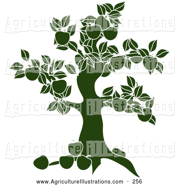 Agriculture clipart silhouette. Of a green apple