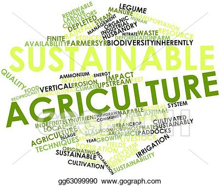 Agriculture clipart sustainable agriculture. Clip art stock illustration