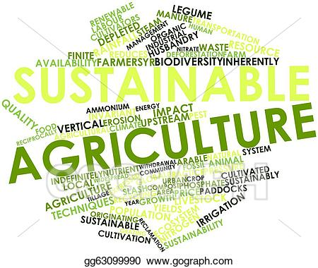 Clip art stock illustration. Agriculture clipart sustainable agriculture