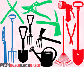 Garden tools agriculture farm. Gardening clipart agricultural science