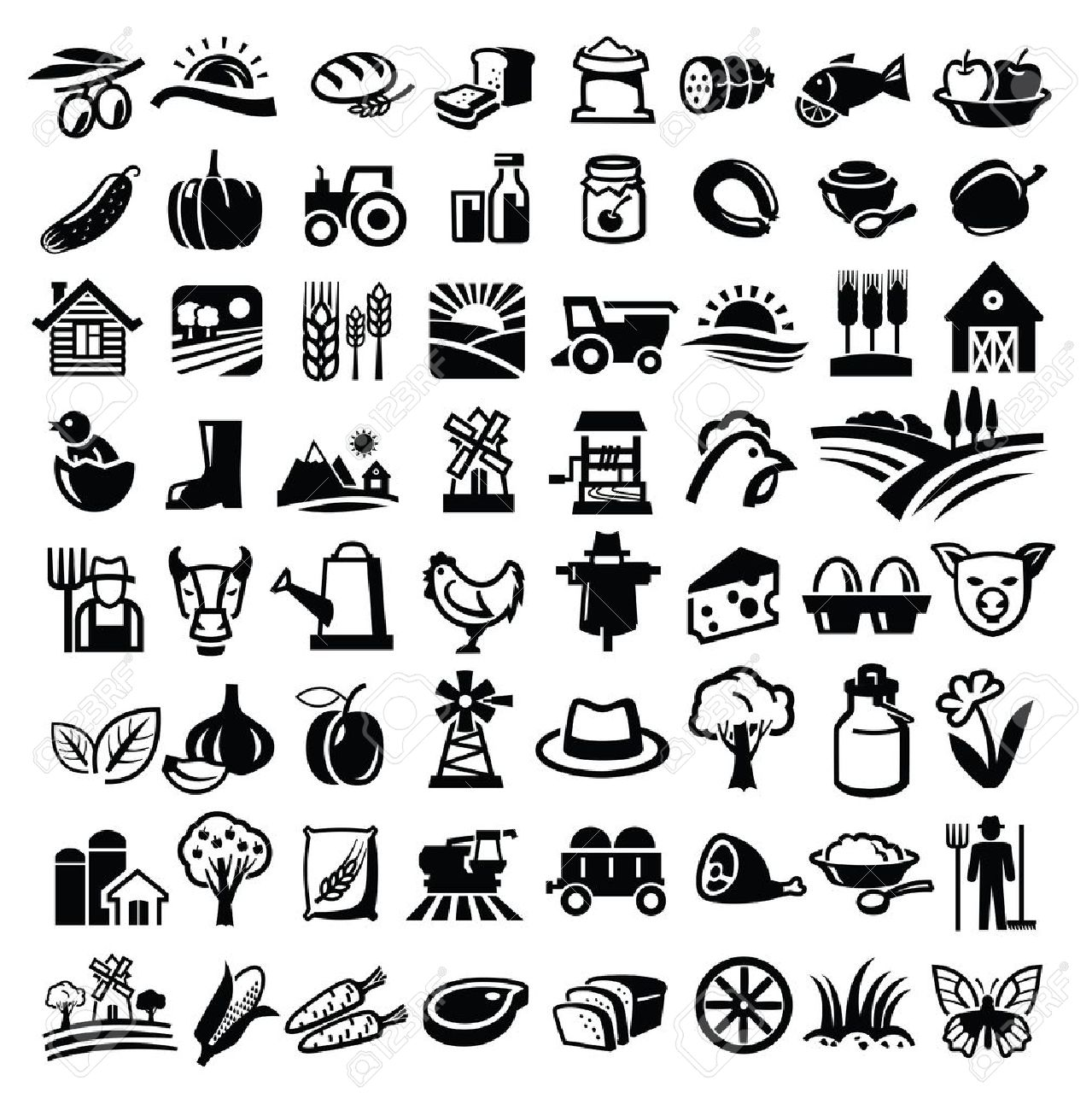 Farm icon free icons. Agriculture clipart vector