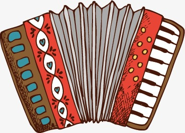 Toy hand painted png. Air clipart accordion