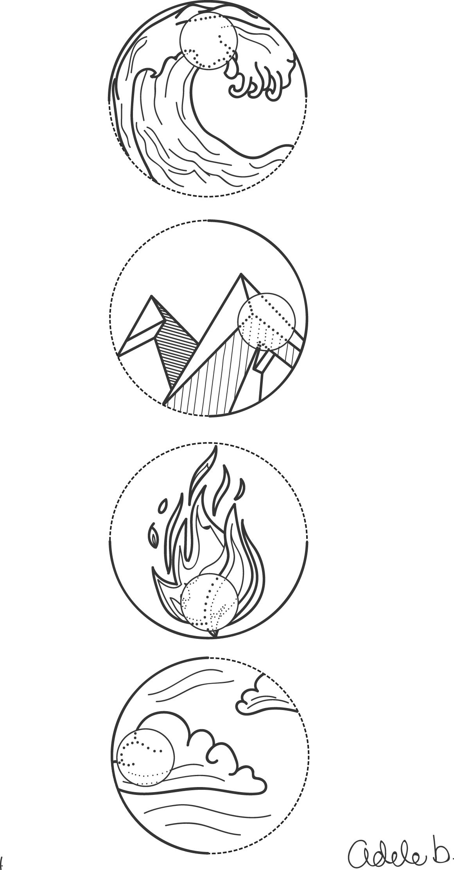 symbols water earth. Air clipart air element