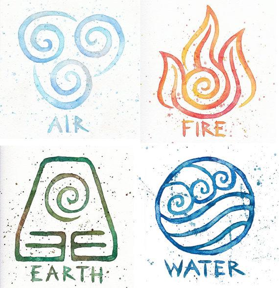 Water earth fire avatar. Air clipart air element