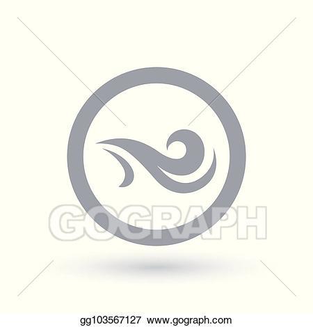 Air clipart air flow. Vector fresh wind icon