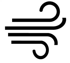 Clipground symbol. Air clipart air flow