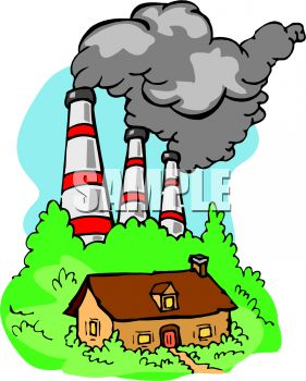 Air clipart air pollution. Factory station