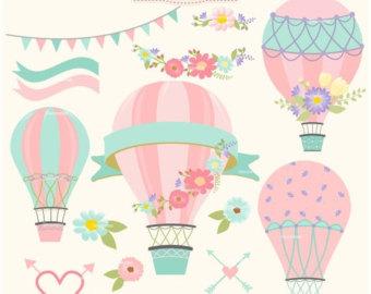 Air clipart aire. Balloon clip art etsy