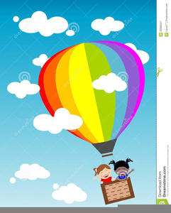 Hot balloon free images. Air clipart animated