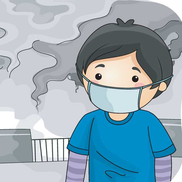 Air pollution station . Breathing clipart airborne disease