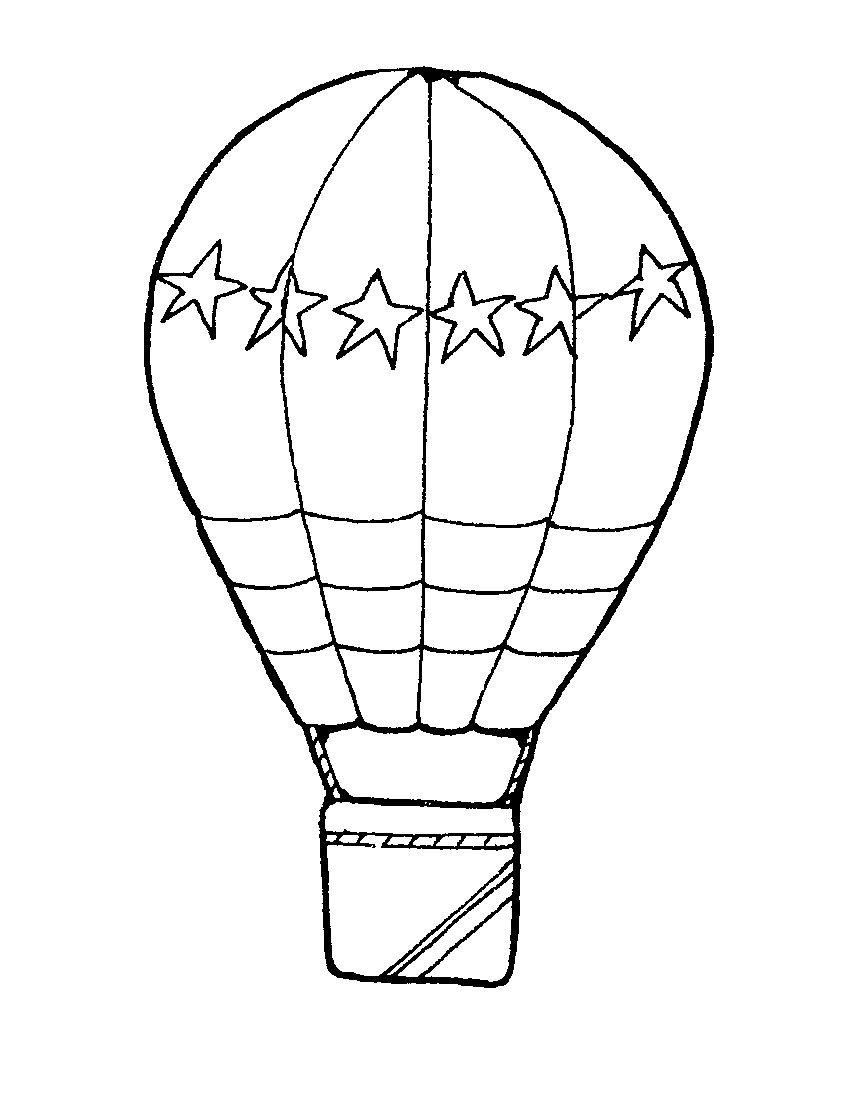 Images for hot balloon. Air clipart black and white