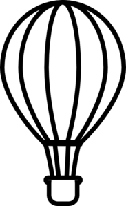 Hot balloon panda free. Air clipart black and white