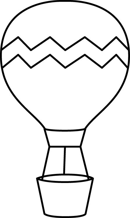 Clipart balloon retirement. Black and white striped