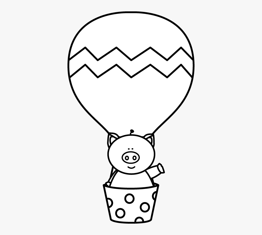 Clip library balloons . Air clipart black and white