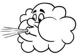Vector Clipart - Cute cloud blowing wind. Vector Illustration gg102932113 -  GoGraph