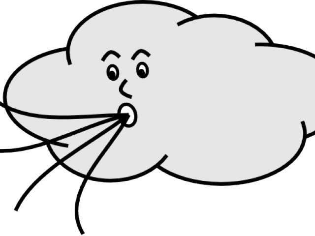 Pictures of wind blowing. Windy clipart puff air