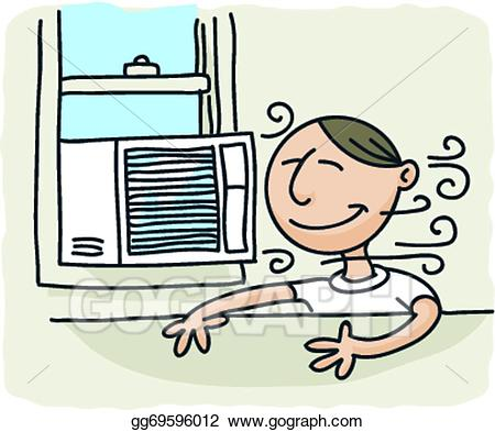 Air clipart breeze. Vector stock window conditioner