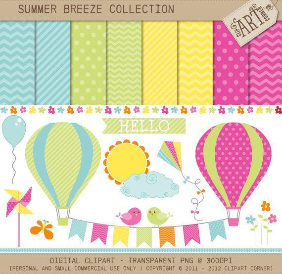 Combo sb summer hot. Air clipart breeze