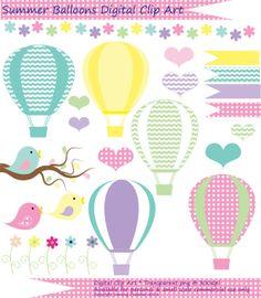 Air clipart breeze. Hot balloons summer sb