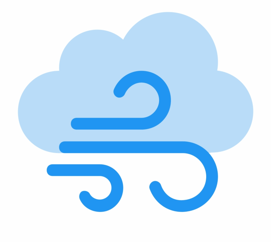 Wind weather symbol png. Windy clipart breeze