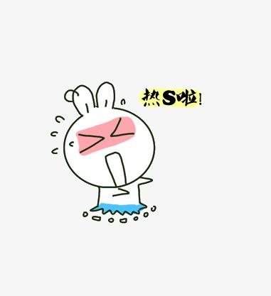 Hot conejo muerto cartoon. Air clipart calor
