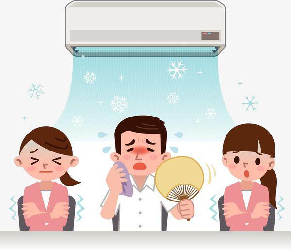 Un sudado de acondicionador. Air clipart calor