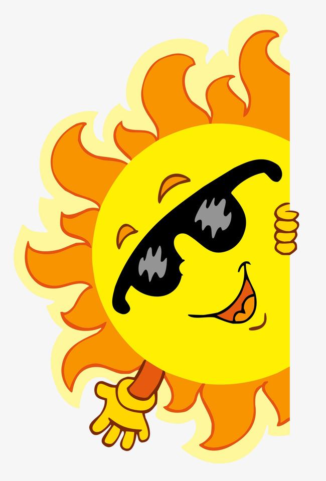Sunglasses in the sun. Air clipart calor