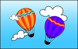 Hot balloons image among. Air clipart cloud