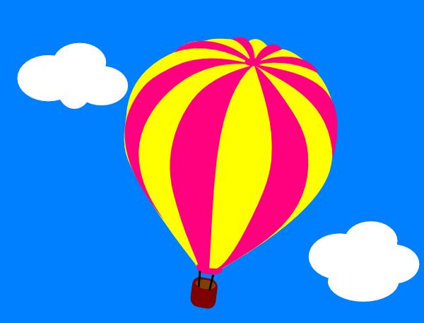 Air clipart cloud. Hot balloon in the
