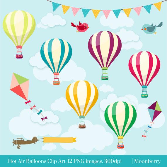Air clipart cloud. Hot balloons clip art