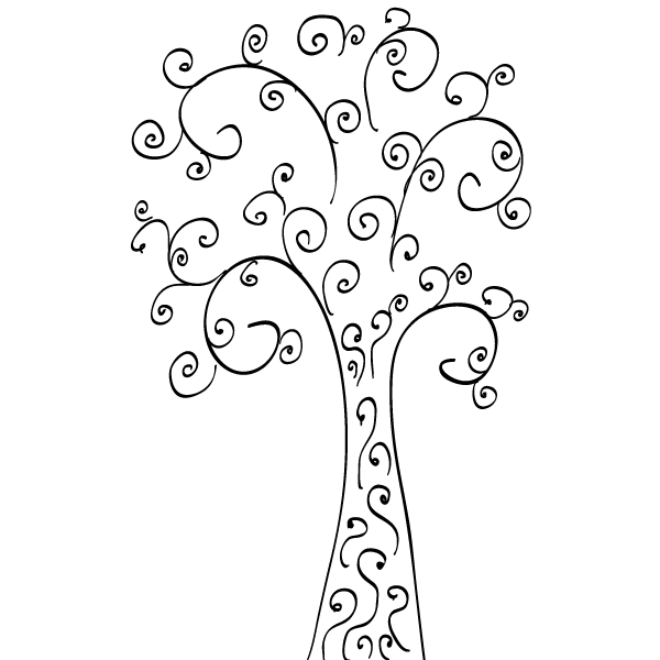 Tree clip art free. Air clipart curly