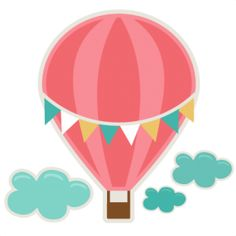 Hot air . Balloon clipart cute