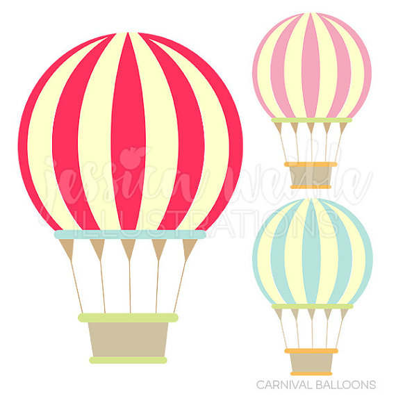 Carnival hot air balloons. Balloon clipart cute