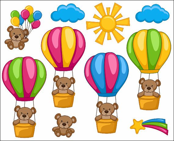 Hot air balloon station. 5 clipart cute
