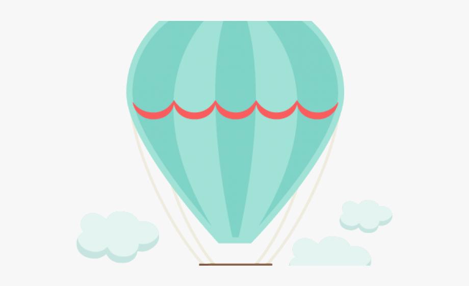 Air balloon pastel coloured. Hot clipart cute
