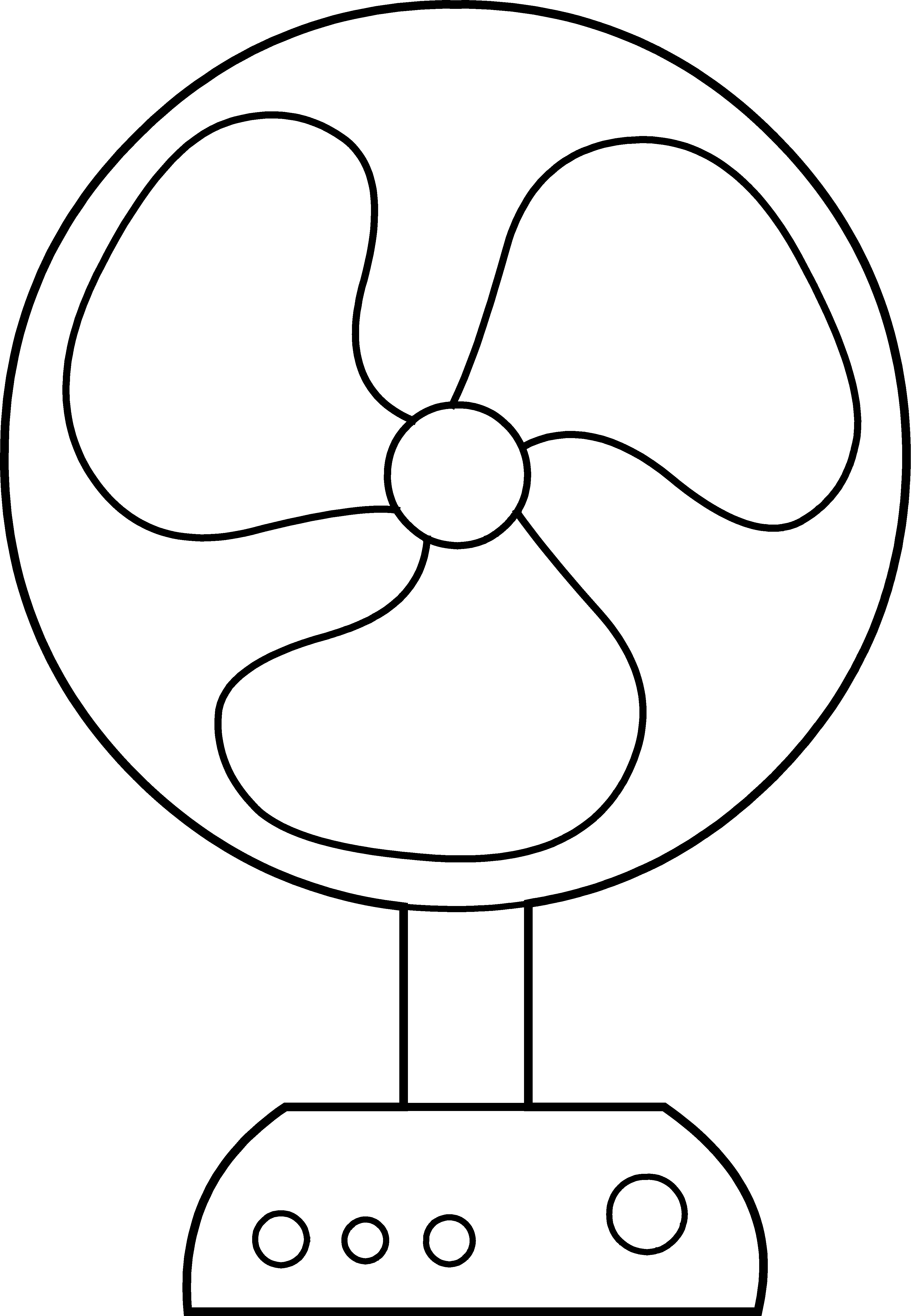 Electric line art free. Coloring clipart fan
